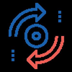 icone synchronisation bi-directionnelle